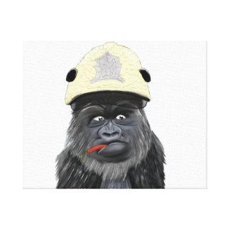 Chili gorilla canvas print