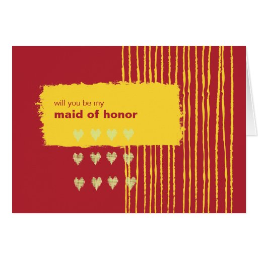 Chili Lemon Be My Maid of Honor Greeting Card