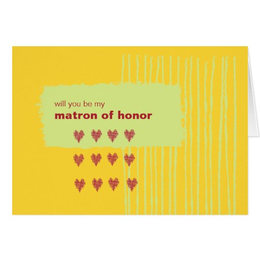Chili Lemon Be My Matron of Honor Greeting Cards
