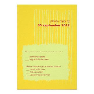 Chili Lemon RSVP Card Invitation