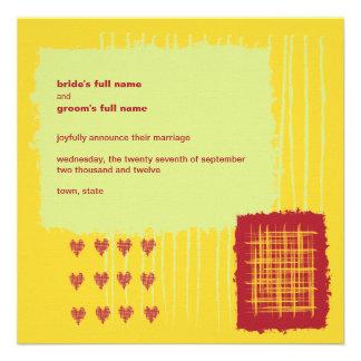 Chili Lemon Wedding Announcement