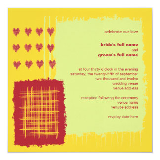 Chili Lemon Wedding Invitation
