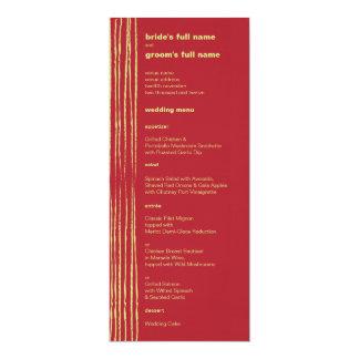Chili Lemon Wedding Menu 10 Cm X 24 Cm Invitation Card
