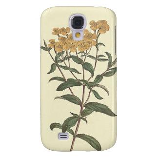 Chili Marigold Botanical Illustration Galaxy S4 Case