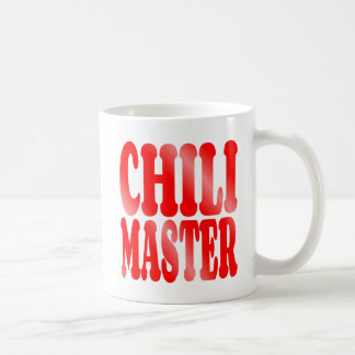 Chili Master in Red Coffee Mug