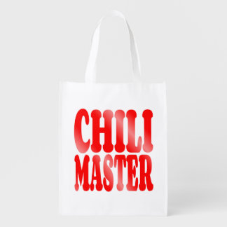 Chili Master in Red Reusable Grocery Bag