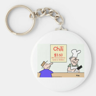 chili not recommended women children key chain