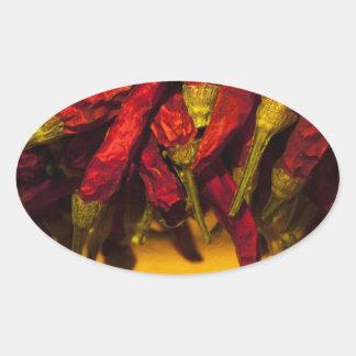 Chili oil oval sticker
