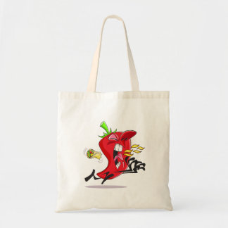 Chili Pepper Breathing Fire Tote Bag