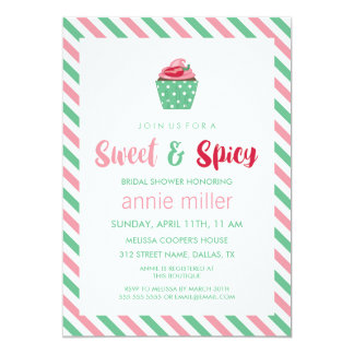 Chili Pepper Cupcake | Sweet & Spicy Bridal Shower Card