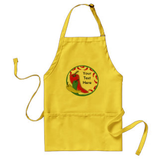 Chili Pepper Group Circle Frame3 Standard Apron