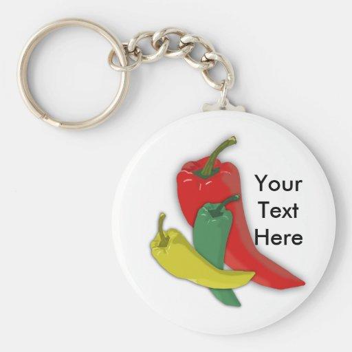 Chili Pepper Group Key Chains