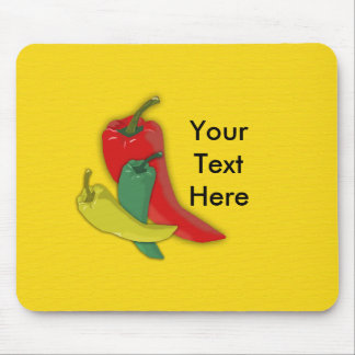 Chili Pepper Group Mouse Mat