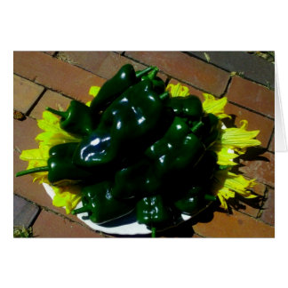 Chili Pepper Note Card, Sunshine Garden Collection Note Card