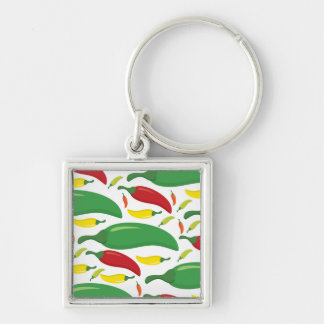 Chili pepper pattern key ring