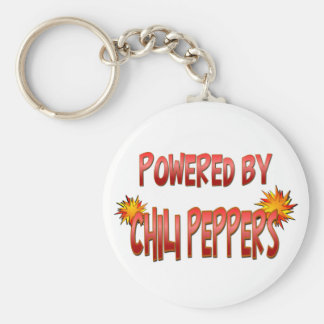 Chili Pepper Power Basic Round Button Key Ring
