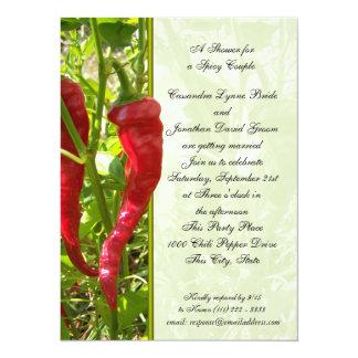 Chili Pepper Wedding Shower 14 Cm X 19 Cm Invitation Card