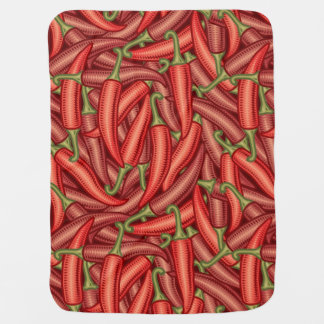 Chili Peppers Baby Blanket