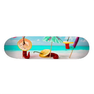 Chili Peppers By The Sea Skate Deck