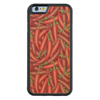 Chili Peppers Carved Maple iPhone 6 Bumper Case