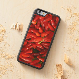Chili Peppers Carved® Maple iPhone 6 Bumper Case