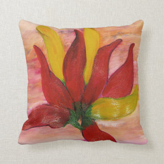 Chili peppers colorful throw pillow