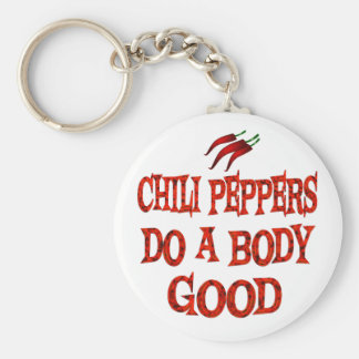 Chili Peppers Do Good Keychains