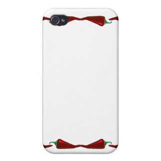 Chili peppers end to end frame graphic cases for iPhone 4