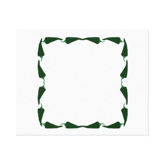 Chili peppers green end to end frame graphic.png canvas print