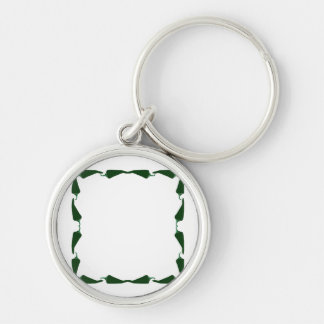 Chili peppers green end to end frame graphic.png Silver-Colored round key ring