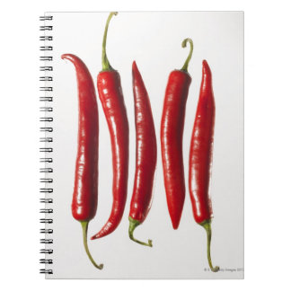 Chili Peppers in a Row Spiral Notebook
