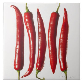 Chili Peppers in a Row Tile