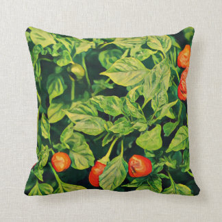 Chili Peppers Print Throw Pillow