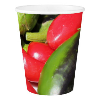 Chili Peppers Red and Green Party Paper Cup