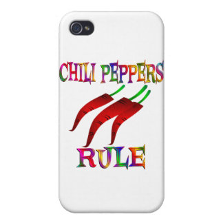 Chili Peppers Rule Covers For iPhone 4