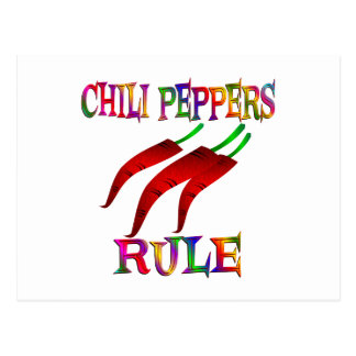 Chili Peppers Rule Postcard