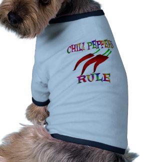 Chili Peppers Rule Ringer Dog Shirt