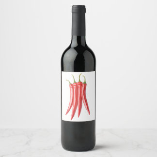 Chili peppers wine label
