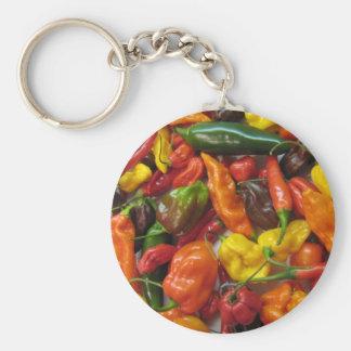Chili Pile Basic Round Button Key Ring
