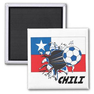 Chili Soccer Fan gear Magnets