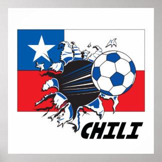 Chili Soccer Futbol Poster