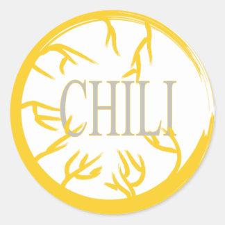 CHILI 'SPICE JAR' CIRCLE STICKER