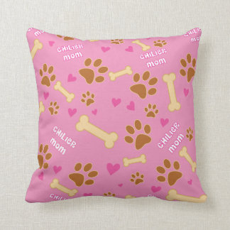 Chilier Dog Breed Mom Gift Idea Throw Pillow