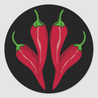 Chilies Classic Round Sticker