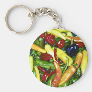 Chilies Basic Round Button Key Ring