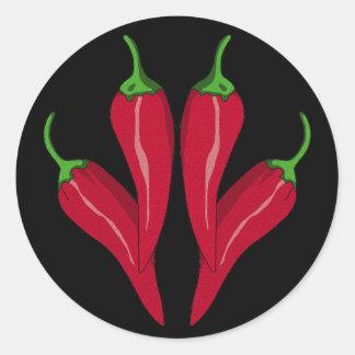 Chilies Round Sticker