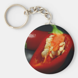 chilies-seeds,still-life basic round button key ring
