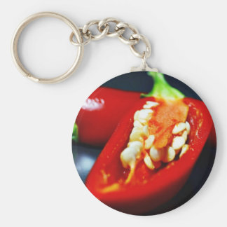 Chilies Seeds Still Life Key Chain