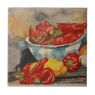 Chilies Small Square Tile