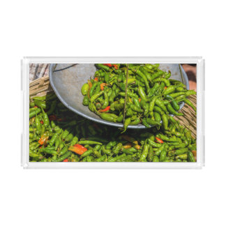 Chilis At Market For Sale Acrylic Tray